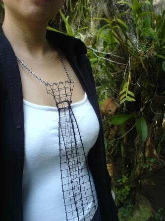Wire Necktie by Steph